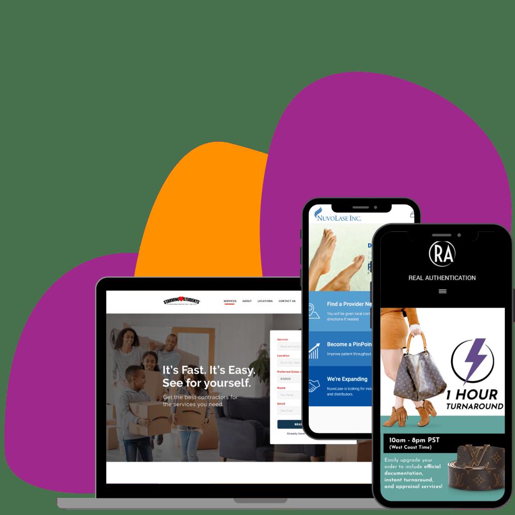 Website designer and website builder